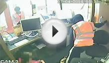 CCTV: Terrifying internet cafe raid in north London